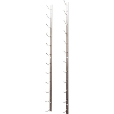 12 Bottle Wall Mounted Wine Rack Finish: Brushed Nickel