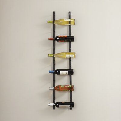 12 Bottle Wall Mounted Wine Rack Finish: Satin Black