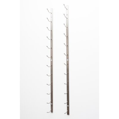 Wall Series 21 Bottle Wall Mounted Wine Bottle Rack Finish: Brushed Nickel