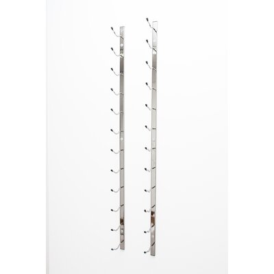 Wall Series 18 Bottle Wall Mounted Wine Bottle Rack Finish: Chrome