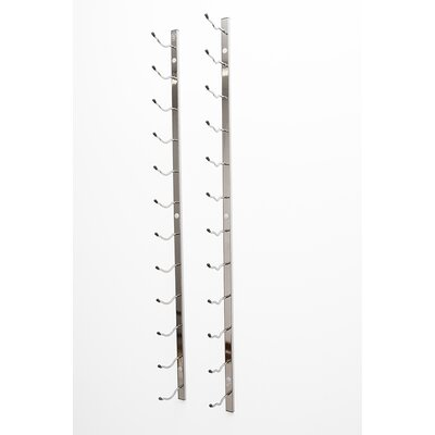 Wall Series 21 Bottle Wall Mounted Wine Bottle Rack Finish: Black Chrome
