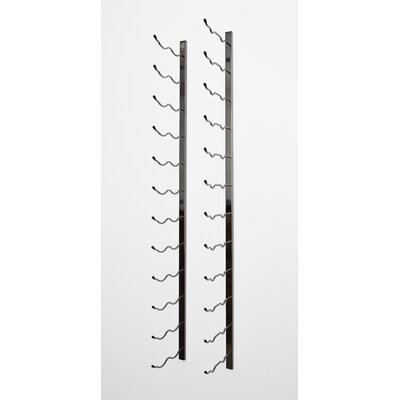 Wall Series 36 Bottle Wall Mounted Wine Bottle Rack Finish: Black Chrome
