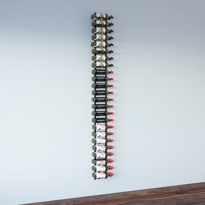 Wall Series 48 Bottle Wall Mounted Wine Bottle Rack Finish: Satin Black