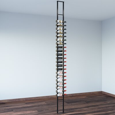 Floating 21 Bottle Wall Mounted Wine Bottle Rack Finish: Satin Black