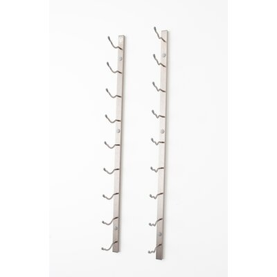 Floating 21 Bottle Wall Mounted Wine Bottle Rack Finish: Brushed Nickel
