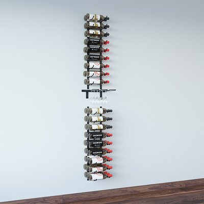 Wall Series 6 Glass and 45 Bottle Wall Mounted Wine Rack Finish: Satin Black