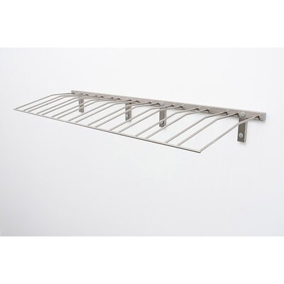 Wall Series Presentation Row 144 Bottle Wall Mounted Wine Bottle Rack Finish: Brushed Nickel