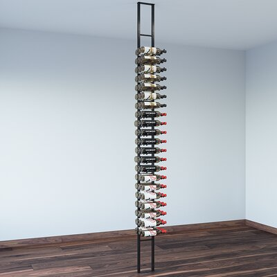 Floating 63 Bottle Wall Mounted Wine Bottle Rack Finish: Satin Black