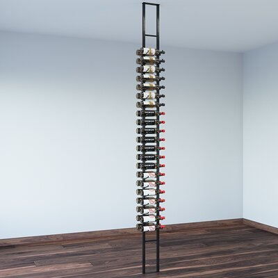 Floating 42 Bottle Wall Mounted Wine Rack Finish: Satin Black