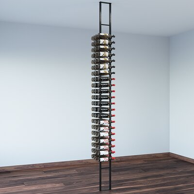 Floating 84 Bottle Wall Mounted Wine Rack Finish: Satin Black