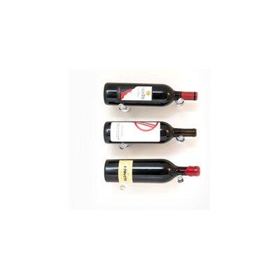 Vino Pins 3 Bottle Wall Mounted Wine Bottle Rack Finish: Clear Acrylic