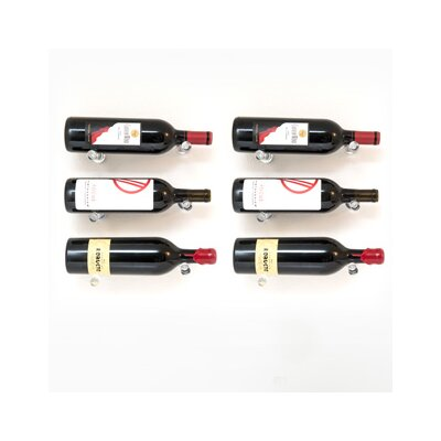Vino Pins 6 Bottle Wall Mounted Wine Bottle Rack Finish: Clear Acrylic