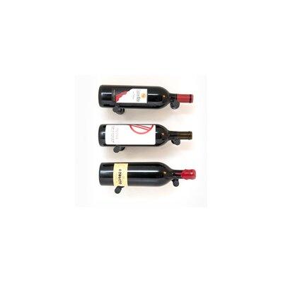 Vino Pins 3 Bottle Wall Mounted Wine Bottle Rack Finish: Anodized Black