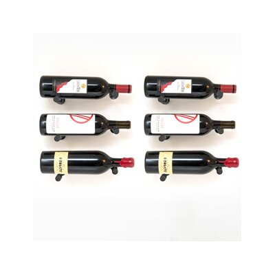 Vino Pins 6 Bottle Wall Mounted Wine Bottle Rack Finish: Anodized Black