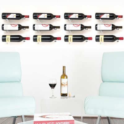 Vino Pins 12 Bottle Wall Mounted Wine Bottle Rack Finish: Clear Acrylic