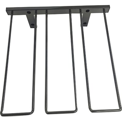Wall Mounted Wine Glass Rack Finish: Black Chrome