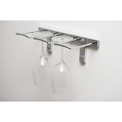Modern Stemware Wall Mounted Wine Glass Rack Finish: Chrome