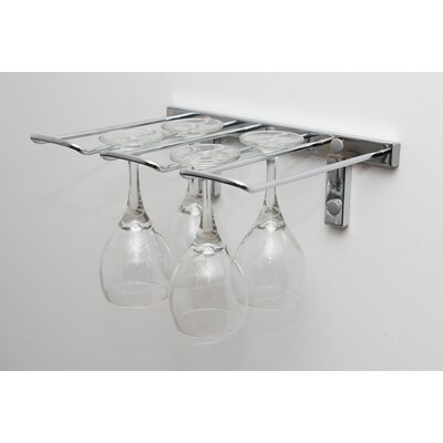 Stemware Wall Mounted Wine Glass Rack Finish: Chrome