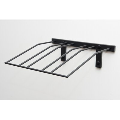 Presentation Row Metal Wall Mounted Wine Bottle Rack Finish: Satin Black