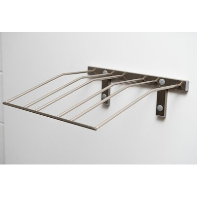 Presentation Row Metal Wall Mounted Wine Bottle Rack Finish: Brushed Nickel