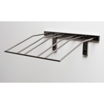 Presentation Row Metal Wall Mounted Wine Bottle Rack Finish: Black Chrome