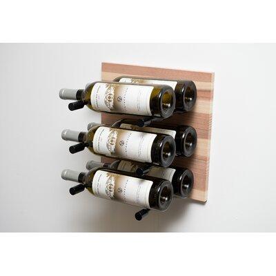 6 Bottle Wall Mounted Wine Rack Finish: Anodized Black Rod