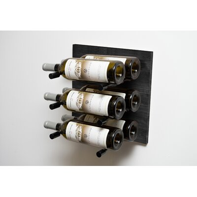 Black 6 Bottle Wall Mounted Wine Rack Finish: Anodized Black Rod