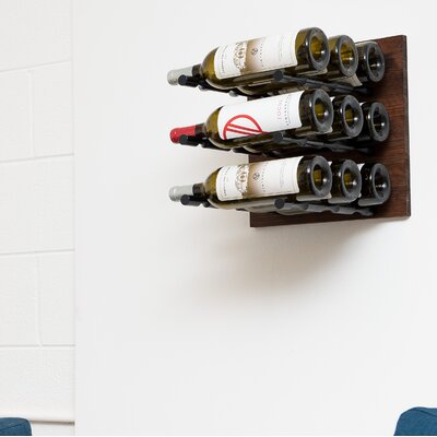 9 Bottle Wall Mounted Wine Rack Finish: Anodized Black Rod