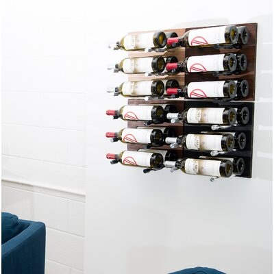 24 Bottle Wall Mounted Wine Rack