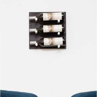 3 Bottle Wall Mounted Wine Rack Finish: Milled Aluminum Rod