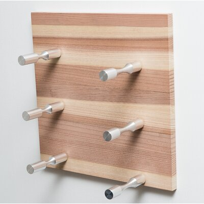 3 Bottle Modern Wall Mounted Wine Rack Finish: Milled Aluminum Rod