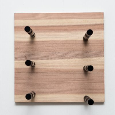 3 Bottle Modern Wall Mounted Wine Rack Finish: Anodized Black Rod