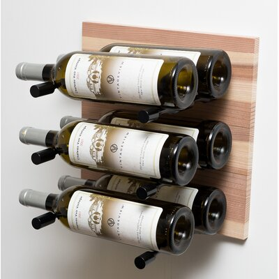 6 Bottle Wall Mounted Wine Rack Finish: Anodized Black Rod