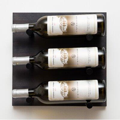 3 Bottle Wall Mounted Wine Rack Finish: Anodized Black Rod