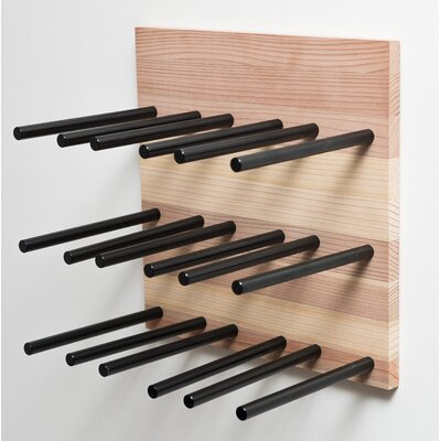 Grain and Rod Cork 9 Bottle Wall Mounted Wine Rack Finish: Black/Natural
