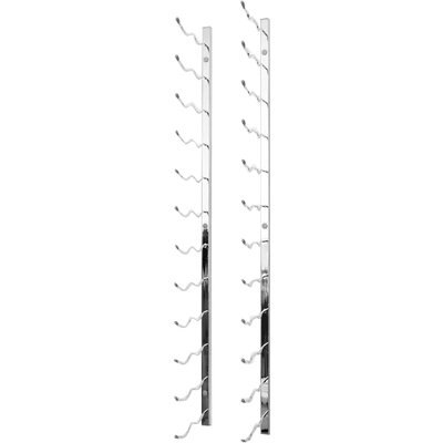 24 Bottle Metal Wall Mounted Wine Rack Finish: Chrome