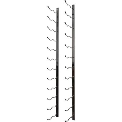 24 Bottle Metal Wall Mounted Wine Rack Finish: Black Chrome