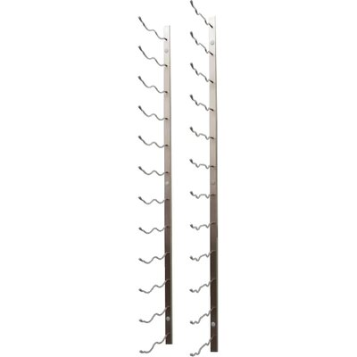 24 Bottle Metal Wall Mounted Wine Rack Finish: Brushed Nickel