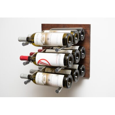 9 Bottle Metal Wall Mounted Wine Rack Finish: Milled Aluminum Rod