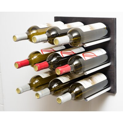 Grain and Rod Cork 9 Bottle Wall Mounted Wine Rack Finish: Aluminum/Midnight Black