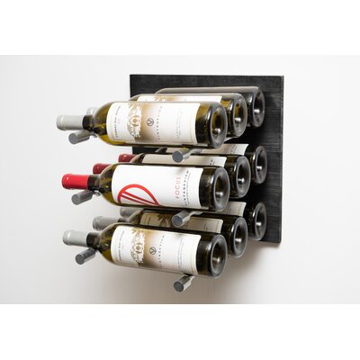 9 Bottle Wall Mounted Wine Rack Finish: Milled Aluminum Rod