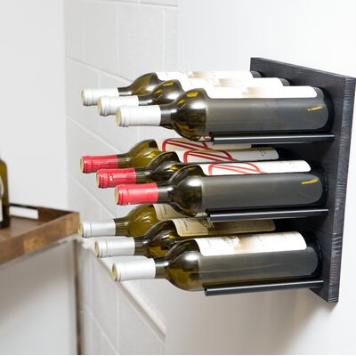 Grain and Rod Cork 9 Bottle Wall Mounted Wine Rack Finish: Black/Midnight Black