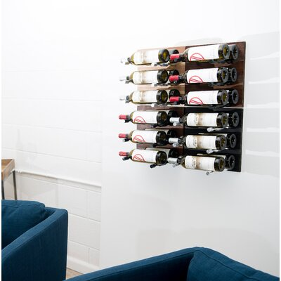 9 Bottle Metal Wall Mounted Wine Rack