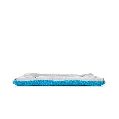 "'Eco-Paw' Reversible Dog Mat Size: Medium (30"" L x 20"" W), Color: Light Blue and Aqua"