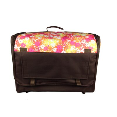 Floral Collapsible Lightweight Pet Carrier Size: Extra Large (24.8 H x 24.8 W x 35.8 L)