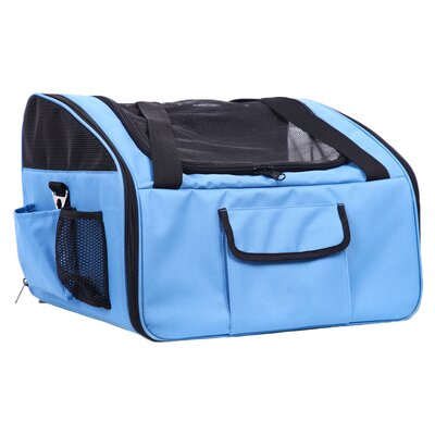 Ultra-Lock Collapsible Travel Pet Carrier Color: Blue