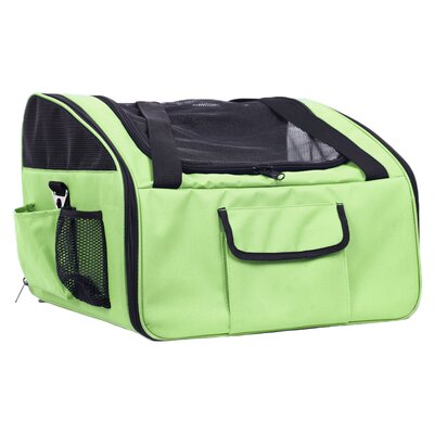 Stickney Ultra-Lock Collapsible Travel Pet Carrier Color: Olive Green