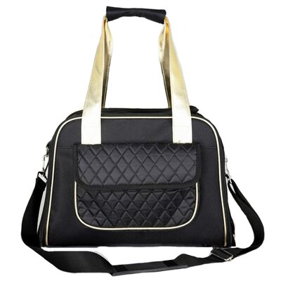Janey Airline Approved Mystique Fashion Pet Carrier Color: Black