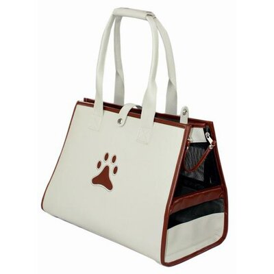 Delmont Posh Paw Pet Carrier Color: Beige and Brown