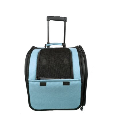 Airline Approved Wheeled Travel Pet Carrier Color: Blue